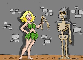 Princess Christi VS Skeleton by CaptainAp60