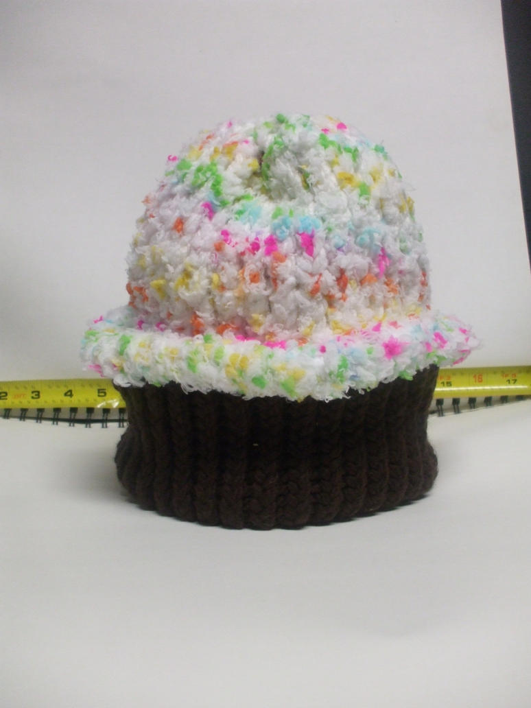 Chocolate Funfetti Cupcake Hat by LaughingAndroid