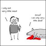 Funny Vegan Joke pig