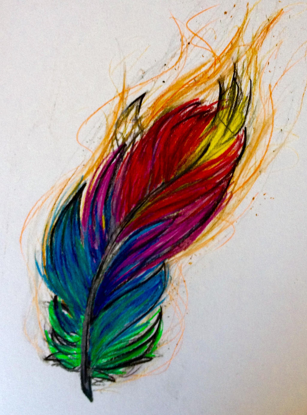 Colored Feather Flame By Xelitax On Deviantart