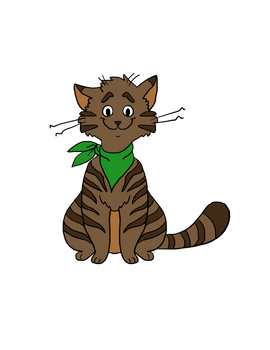 Brown Cat Meow meow