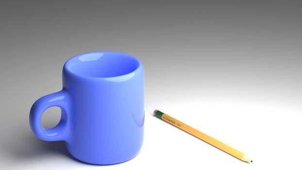 Cup and pencil model