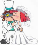 Hoagie and Fanny's Wedding Kiss