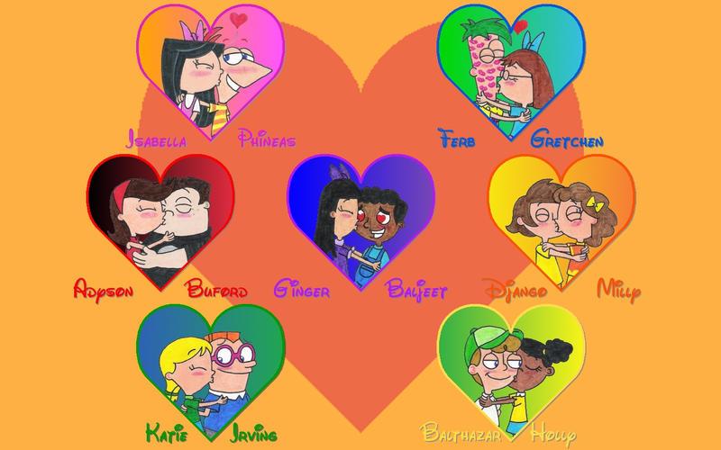 PnF Couples' Kisses Wallpaper by nintendomaximus on DeviantArt