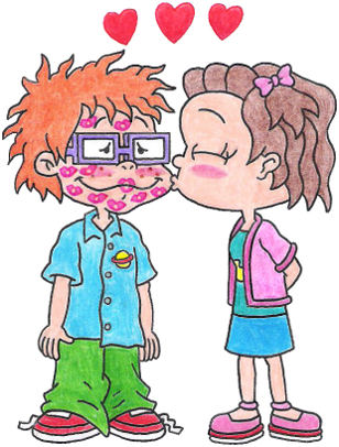 Lil Loves Kissing Chuckie by nintendomaximus on DeviantArt