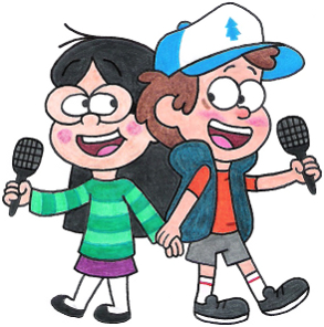 Gravity Falls Dipper And Candy Dipper and Candy Singi...