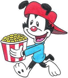 Wakko's Got a Bucket of Popcorn by nintendomaximus