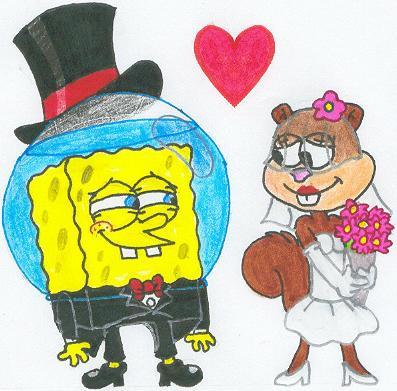 A SpongeBob Sandy Wedding Pic by nintendomaximus on deviantART