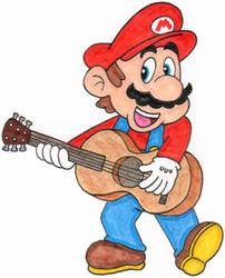 Mario Playing the Guitar by nintendomaximus