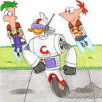 Gizmoduck Meets Phineas and Ferb Again