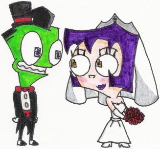 Zim And Gaz Anime Kiss A Zim+Gaz Wedding Fana...