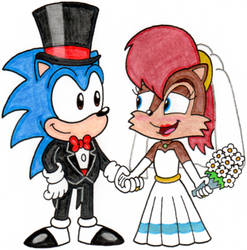 Sonic and Sally Tie the Knot