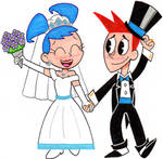 Brad and Jenny Carbunkle Walking Up the Aisle by nintendomaximus