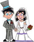Danny and Sam's Wedding Portrait by nintendomaximus