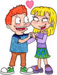 Angelica and Harold's Romantic Embrace
