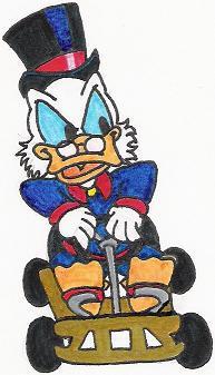 Scrooge in a Go-Kart by nintendomaximus