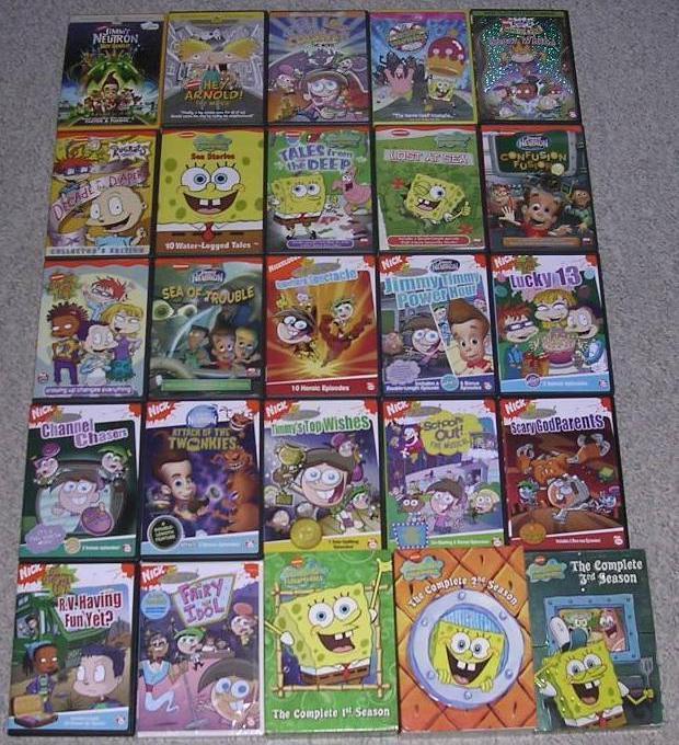 My Nicktoon DVDs by nintendomaximus on DeviantArt