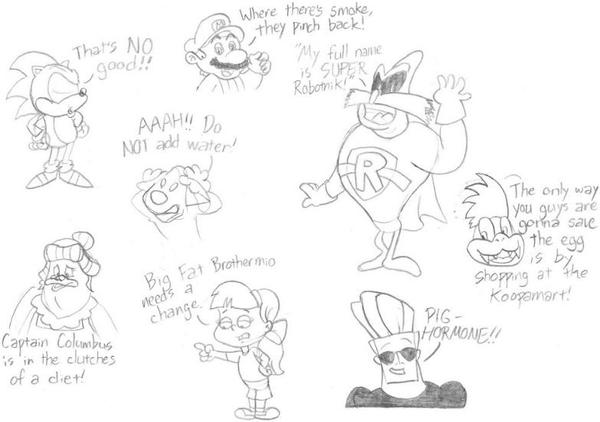 Some YouTube Poop Sketches by nintendomaximus