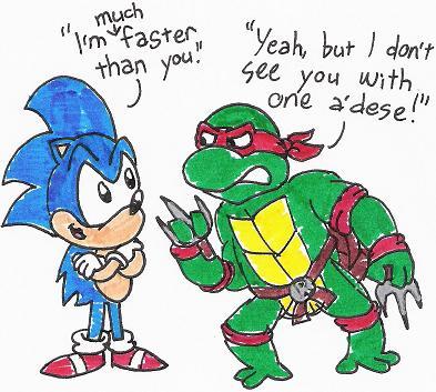 [تصویر:  Sonic_and_Raphael_by_nintendomaximus.jpg]