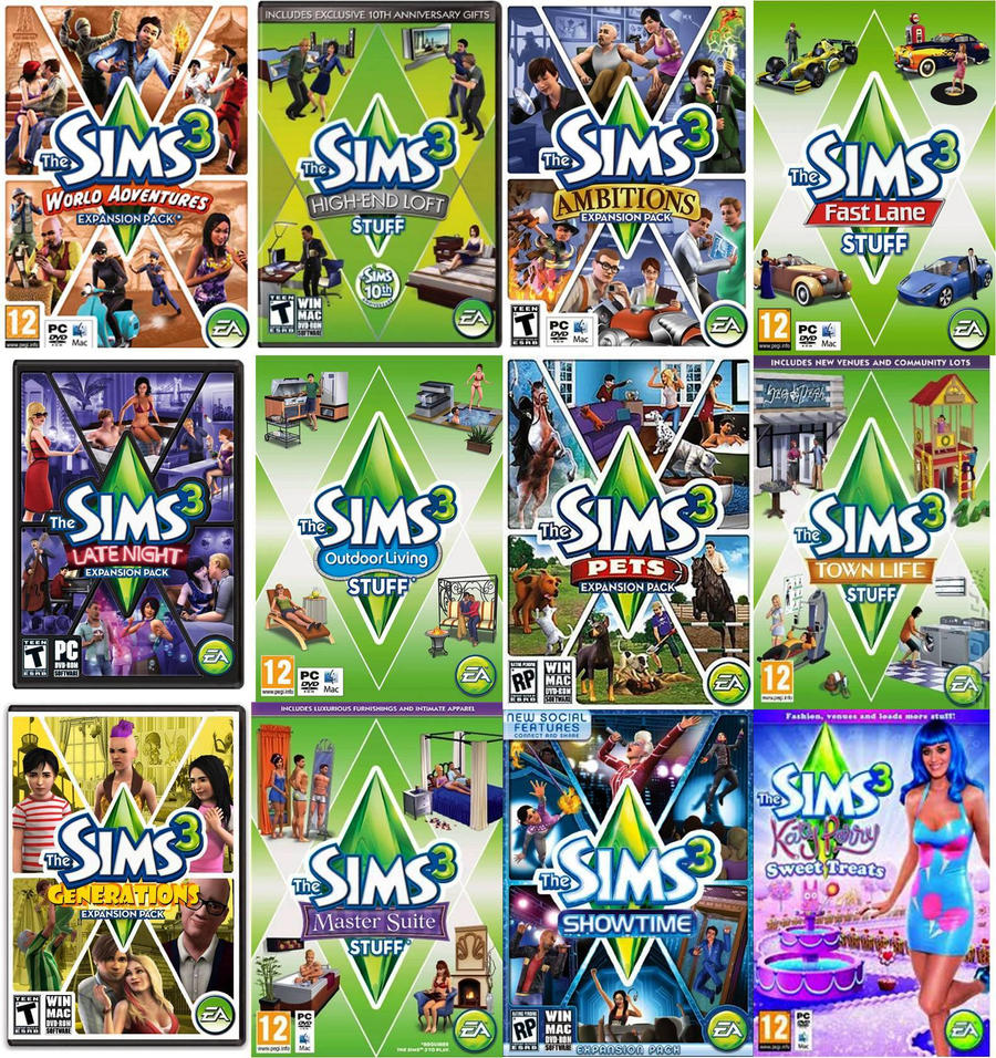 What are all the Sims 2 expansion packs and stuff expansions