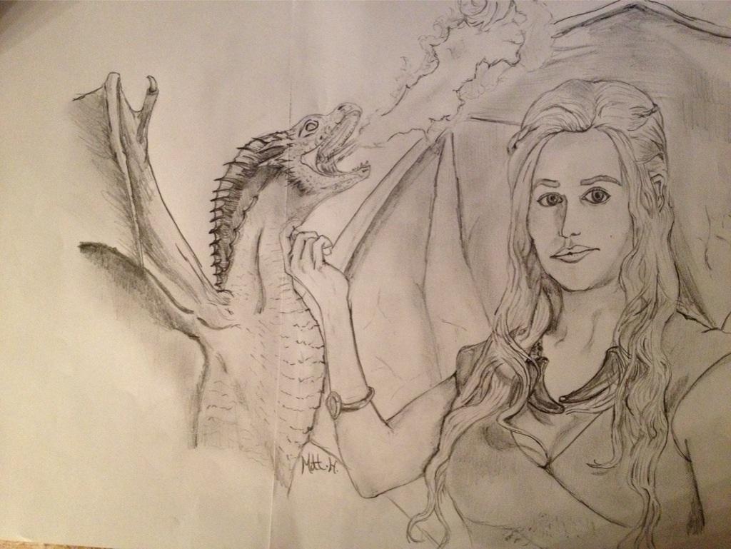daenerys targaryen sketch by MattyH85