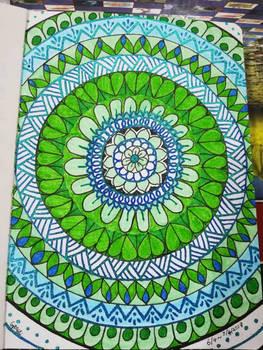 Green and Blue Mandala