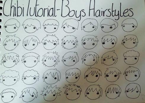 Chibi Tutorial 5 - Boys Hairstyles 1