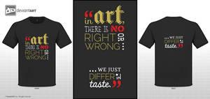No Right or Wrong Art by charu-san