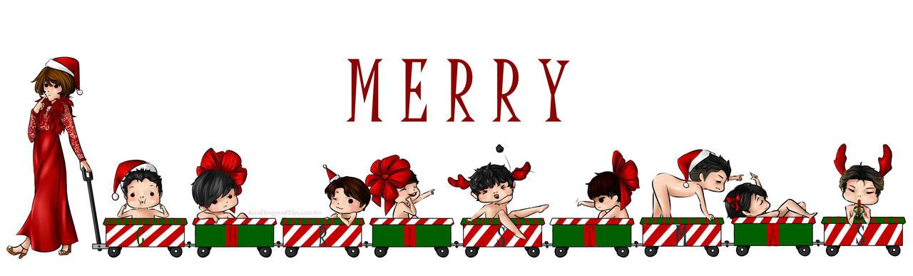 Merry Christmas, Exo! by KiraDesigns