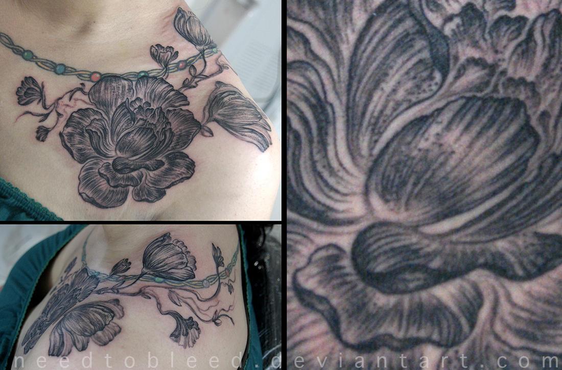 line flowers by Benjamin Otero by needtobleed