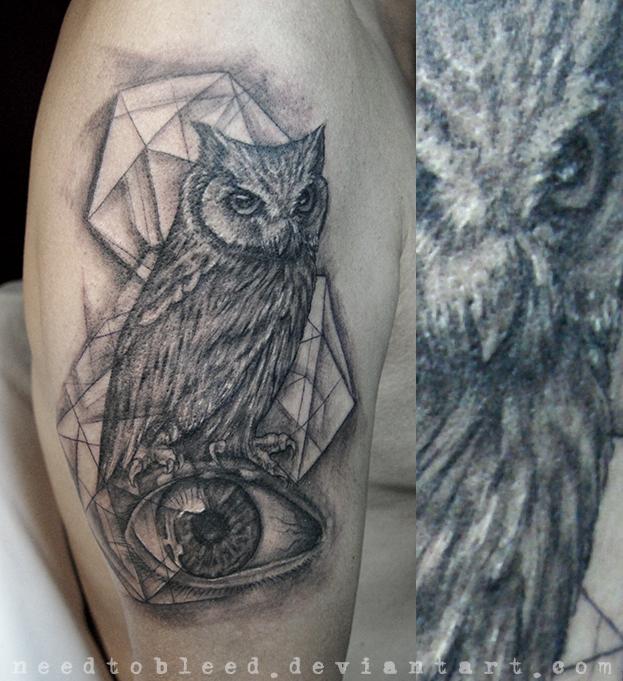 owl eye by Benjamin Otero by needtobleed