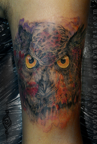 owl  by Benjamin Otero by needtobleed