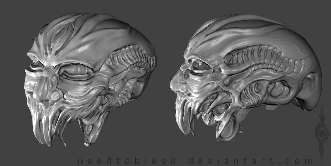 head sculpt by Benjamin Otero by needtobleed