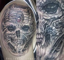 Biomech skull by Benjamin Otero