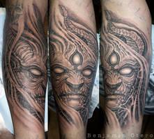 Demon tattoo by Benjamin Otero