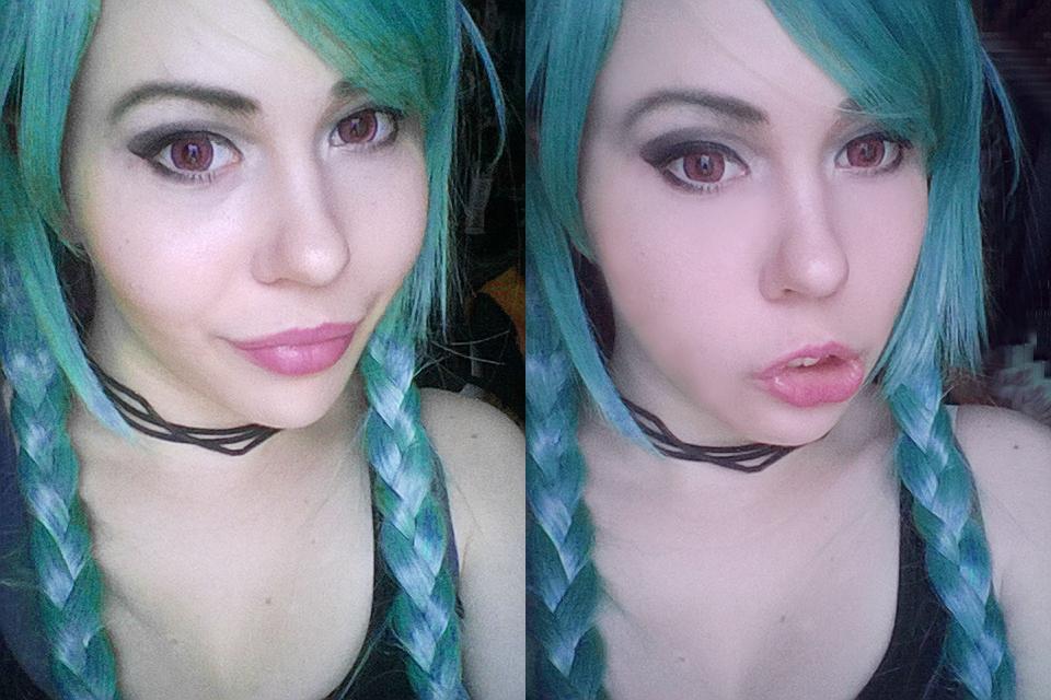Jinx (League of Legends) makeup test! by berylrion