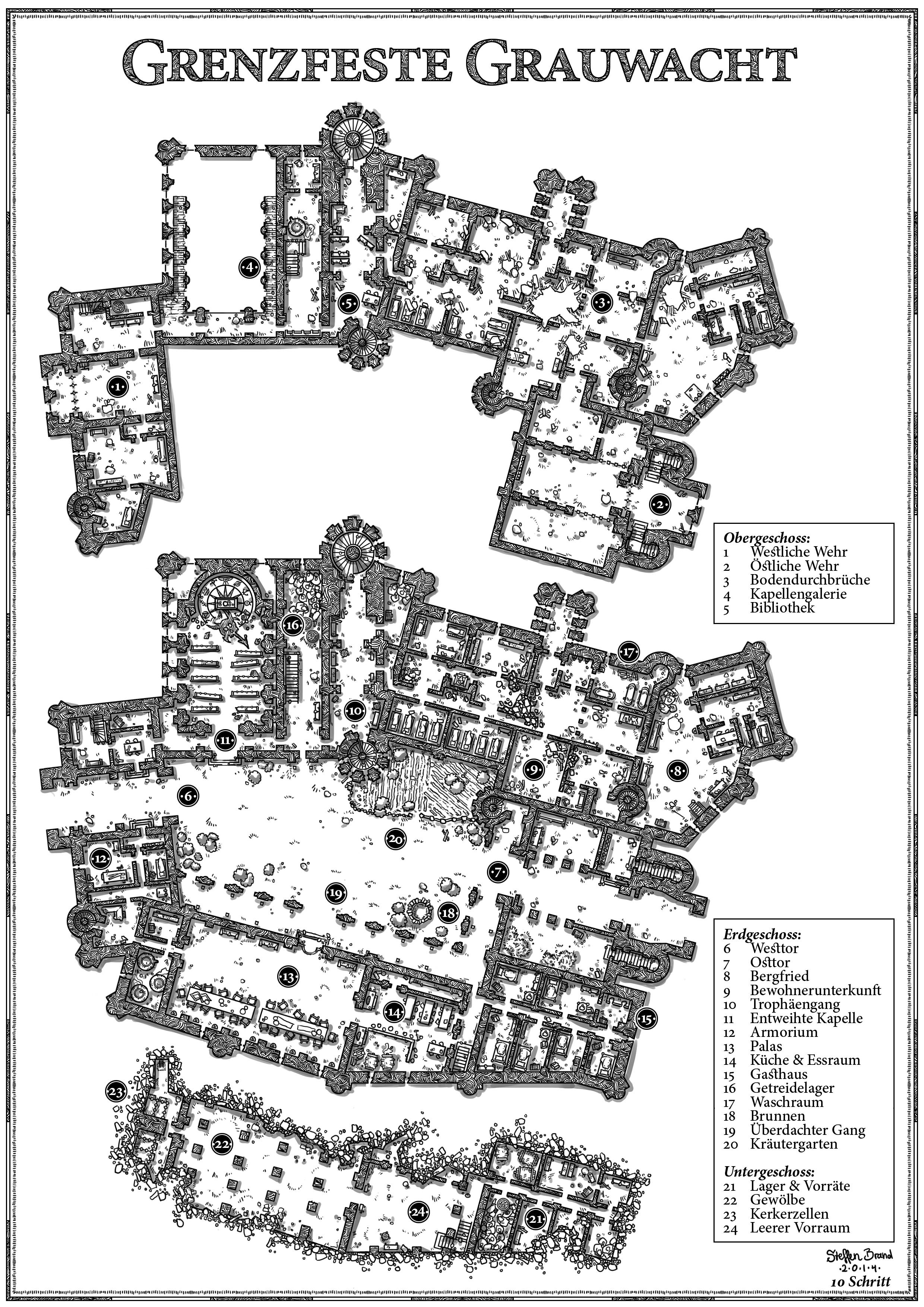 Grenzfeste grauwacht by steffenbrand on deviantart for Final fortress blueprints