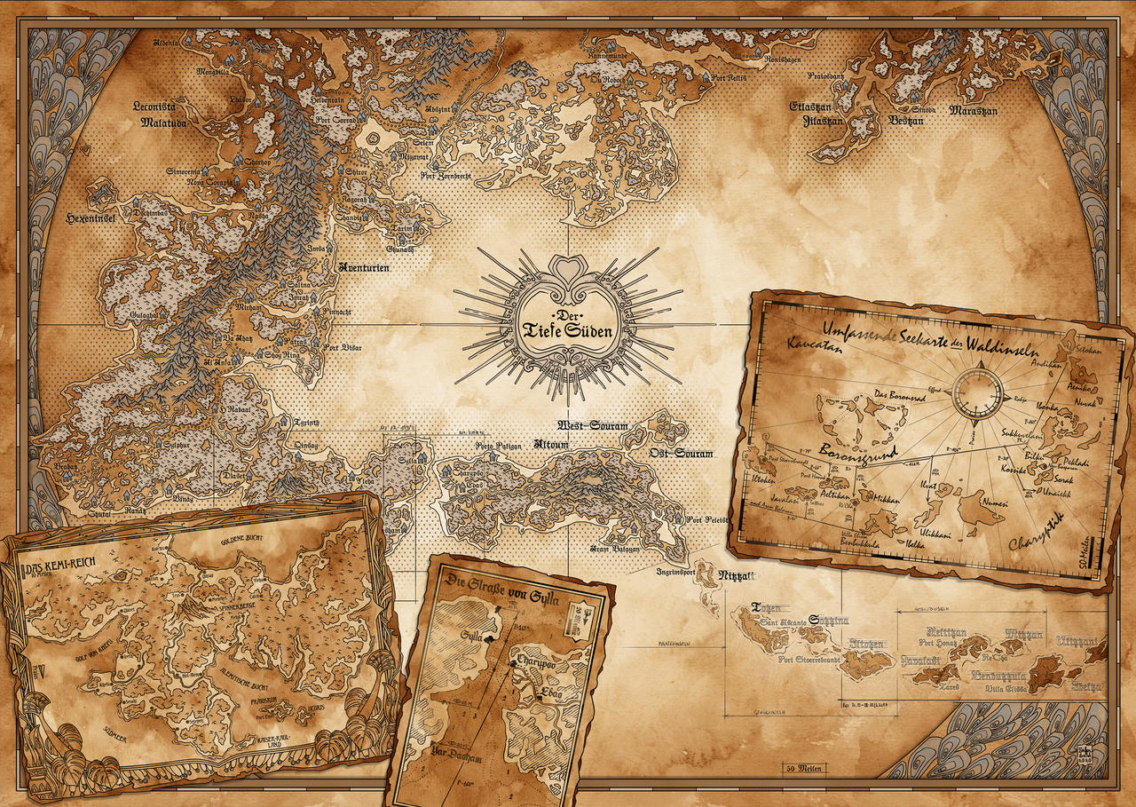 The Ingame-Map of the Southern Region