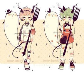 Adoptable: Dessert lane species #1-2 (closed) by lyzeki