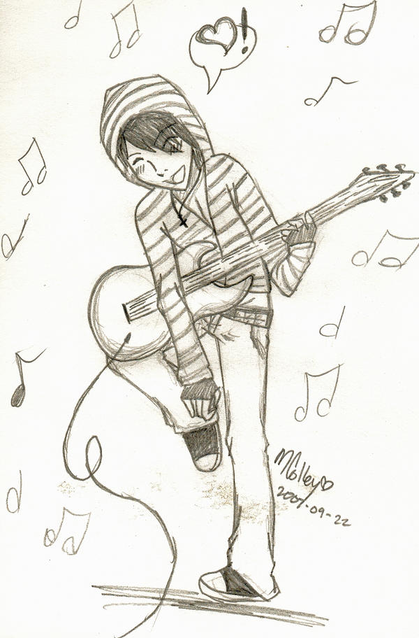 My Guitar Boy by Nerdy-Kitten on DeviantArt Boy With Guitar Drawing