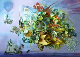 Sleeping fish by Mon-artifice