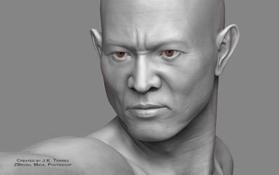 Shaolin 2016 Head Closeup by EtherealProject
