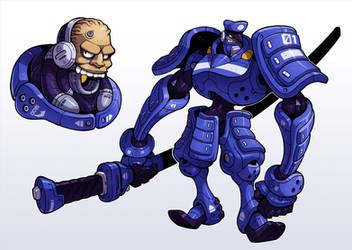 Cyborg Samurai Cop by Lysol-Jones