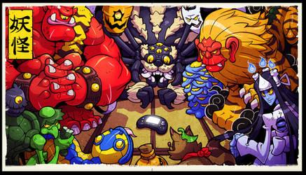 Yokai Party by Lysol-Jones