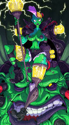 Cyberpunk Necromancer by Lysol-Jones
