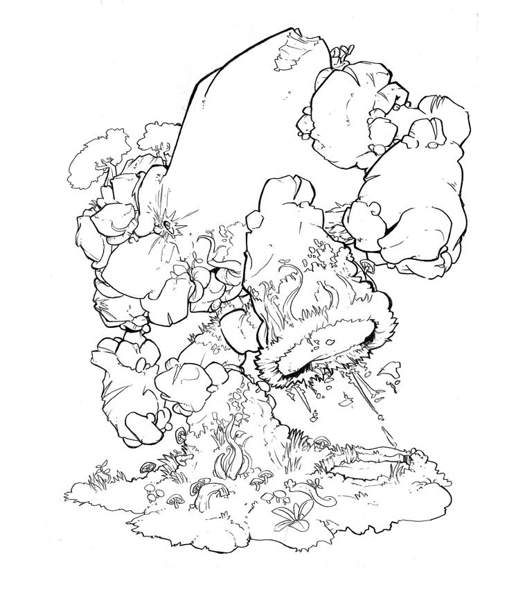 Earth golem thingie by Lysol-Jones