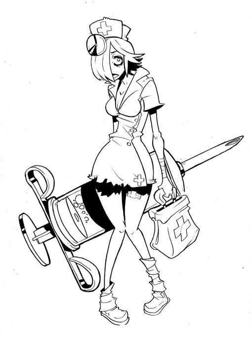 Line Drawing Nurse : Zombie nurse by lysol jones on deviantart