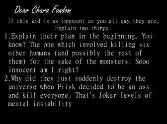 Dear Chara fandom