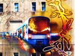 graffiti of the metro