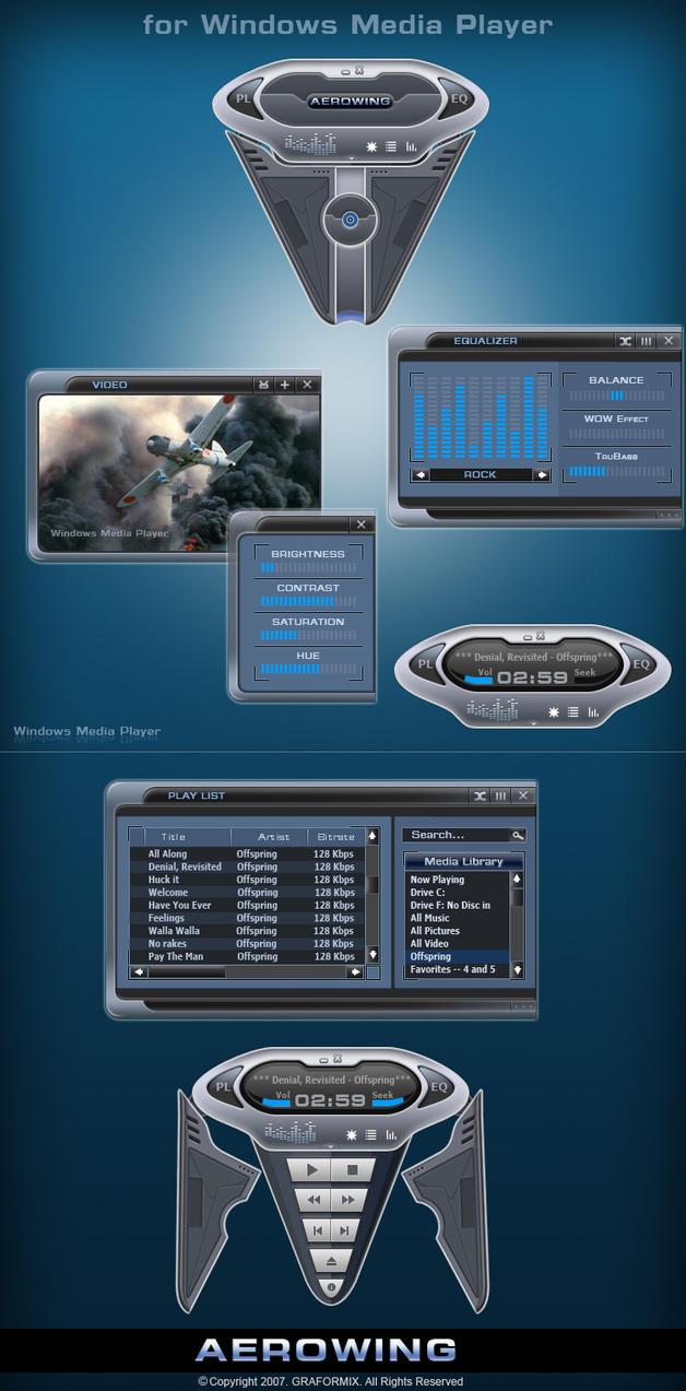 Aerowing media player skin by graformix
